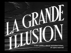 Movie title from the film La grande illusion directed by Jean Renoir, starring Jean Gabin, Pierre Fresnay and Erich von Stroheim. Terre Plate, Typography Letters, Lettering, Friday Film, Erich Von Stroheim, Love Of A Lifetime, Jean Renoir, Beautiful Film, Opening Credits