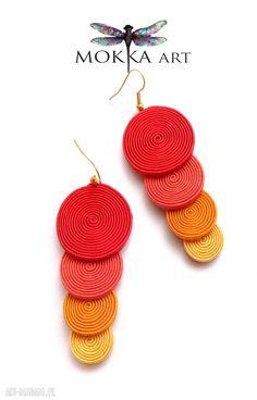 Kolczyki sutasz sunspiral mokkaa sutasz, soutache, sutaż, Bead Jewellery, Jewelry, Bracelet Patterns, Quilling, Crochet Earrings, Beads, Design, House, Soutache Jewelry