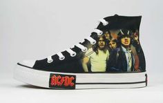 Converse Designs Metallica and AC/DC Trainers for 'Rock' Series #hightops #shoes trendhunter.com