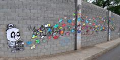 Die Befreiung – Streetart von PandaCrew