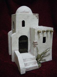 Risultati immagini per casas para belenes Pottery Houses, Ceramic Houses, Diy Nativity, Christmas Nativity, Modelos 3d, The Good Shepherd, Miniature Houses, Fairy Houses, Clay Projects
