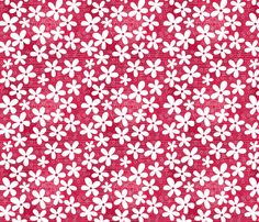 flowers on pink fabric by anastasiia-ku on Spoonflower - custom fabric