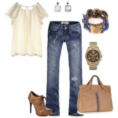 Probably swap out the shirt with something different, but love everything else, especially the shoes!