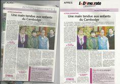 """""""Nettoyage"""" d'un article paru dans la presse + logo du journal"""