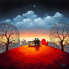 British painter David Renshaw developed his skill of painting from an early age. His passion for Art & Graphic design led him become a successful artist. Let's enjoy the collection of his romantic acrylic paintings in vibrant colors.