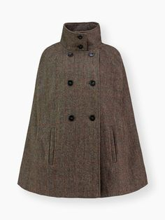 Sands & Hall Original Cape Hepburn Earth For Instant Chic And Warmth Layer On Top Of Cosy Knitwear, Or Half Sleeves And Long Gloves For A Touch Of Elegance. Made From the Finest harris Tweed, It Looks Great When Teamed with Jeans And Heels Or Boots For Easy Style.