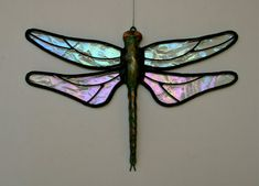 Stained Glass DRAGONFLY Suncatcher