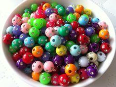 New 20mm 10Pcs Purple Acrylic Round Beads Bubblegum For Jewelry Pendant Making