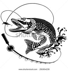pike fishing decal -