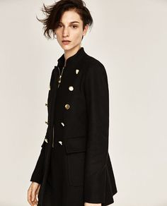 Image 1 of MILITARY STYLE JACKET from Zara