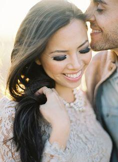 Impressive Bridal Makeup Examples, check out those killer eye lashes! Wedding Photography Poses, Wedding Photography Inspiration, Wedding Poses, Wedding Couples, Wedding Portraits, Wedding Inspiration, Wedding Ideas, Engagement Couple, Wedding Engagement