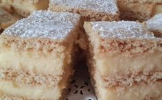 Felvidéki krémes Hungarian Desserts, Hungarian Recipes, Sweet And Salty, Vanilla Cake, Breakfast Recipes, Recipies, Food And Drink, Cooking Recipes, Yummy Food