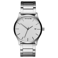 Men's Silver stainless steel watch from MVMT Watches. This brushed, stainless-steel timepiece flows seamlessly into any outfit.