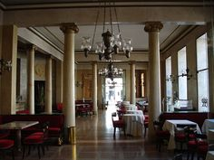 The Pedrocchi Café is a café founded in the 18th century in central Padua, Italy. It has architectural prominence because its rooms were decorated in diverse styles, arranged in an eclectic ensemble by the architect Giuseppe Jappelli.