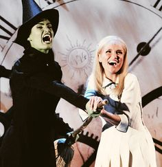 """Idina and Kristin (Defying Gravity) """"There's no fight we cannot win / Just you and I defying gravity / With you and I defying gravity!"""""""