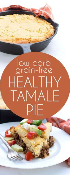 """Delicious spicy ground beef filling with a """"cornbread"""" crust. This will satisfy all your Mexican food cravings. LCHF Keto Banting THM recipe."""