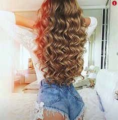 45 Lovey-Dovey Curly Hair Styles For Long Hair Curly Hair Styles, Long Curly Hair, Big Hair, Wavy Hair, Curls Hair, Long Hair Styles Waves, Blonde Hair, Pretty Hairstyles, Wig Hairstyles