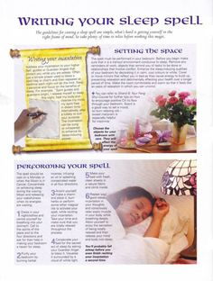 Mind, Body, Spirit Collection - Writing Your Sleep Spell