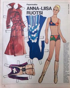 Finnish Paper Doll ACTRESS Anna-Liisa Ruotsi