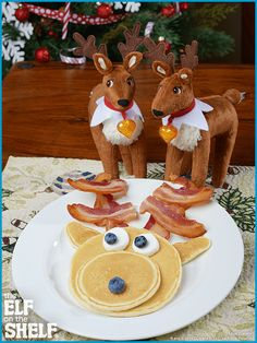 Reindeer - Like Looking In a Mirror - The Elf on the Shelf® Christmas Breakfast, Christmas Morning, Christmas Holidays, Holiday Treats, Christmas Treats, Holiday Fun, Christmas Foods, Christmas Decorations, Christmas Activities