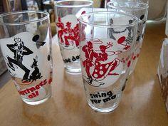 Mid Century Modern Bar Glasses circa by VintageAppleTreasure, $28.00