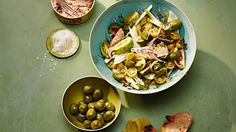 We used a selection of green heirloom tomatoes for this salad, but it tastes just as good with other varieties. Be sure not to use unripe green tomatoes, though, which are best for frying or pickling.