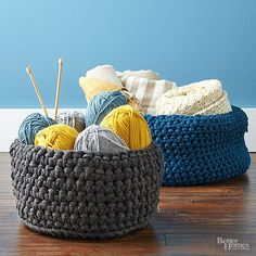 Check out these amazing DIY storage baskets that you can proudly display around your home or place your spare items in. See how to knit a basket, decorate a basket or upcycle a flea market basket.