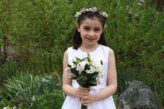 Communion Flowers and halo - so adorable. Monday Morning Flowers - Princeton, NJ