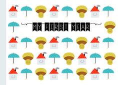 """Babytagebücher - Mini-album """"My First Year"""" - ein Designerstück von avaundyves bei DaWanda"""