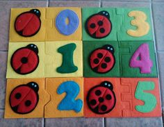 Felt puzzle jigsaw learning toy activity quiet by mentalgrowth