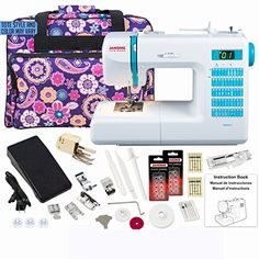 The Janome DC 2013 sewing machine has the features you need to complete any project home decor garment sewing scrapbooking or quilting. The Janome DC 2013 features fifty stitches including three ...