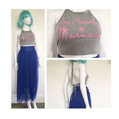 I'M REALLY a MERMAID 90's cropped top looks great with our COBALT tulle calf skirt  Come and start getting ready in style with OPIUM  For APPOINTMENTS, PRICES or INFO pls thru TEXT ONLY 787.605.3404 11-8pm  WE SHIP WORLDWIDE  #shoplocal #ootd #fashion #sanjuan #calleloiza #puertorico #compralocal #festival #trend #trendy #sexy #LOOKBOOK  #style #bohochic #musthave #love #follow #tropical #tulle #calfskirt #croppedtop #crop #top #backless #mermaid