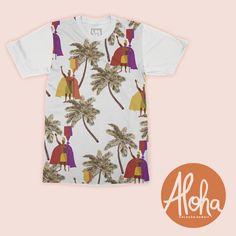Estampa Hawaii desenvolvida para a moda. Disponível em nosso acervo. Para solicitar essa e/ou outras estampas entre em contato pelo e-mail: contato@estudiolabart.com.br