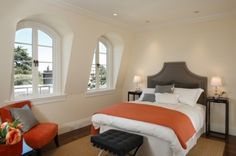 color combo :)  contemporary bedroom by Winder Gibson Architects