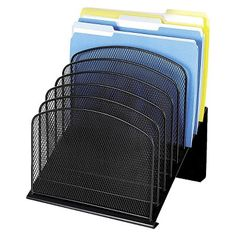 Safco® Steel Mesh Desk Organizer with Eight Sections - Black $60