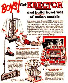 The boys would never let us play with the erector sets.