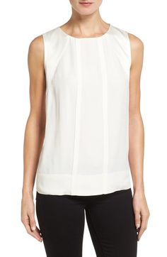 Main Image - Classiques Entier® Sleeveless Crepe Top