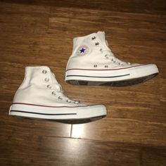 White high top Chuck Taylor's Worn but still in great condition! Converse Shoes Sneakers