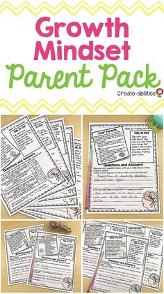 Growth Mindset Parent Pack from Create-abilities - You will get 50 different print-and-go growth mindset activities that students complete at home wit - Sports Theme Classroom, 3rd Grade Classroom, Classroom Ideas, Parent Communication Forms, Growth Mindset Activities, Math Pages, Classroom Newsletter, Order Of Operations, Get Reading