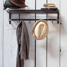 Industrial Chic Farringdon wall Luggage Rack - The Farthing - 1