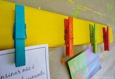 Porta recados de pregador. | 30 jeitos de decorar sua casa como você nunca imaginou (e com apenas R$10)