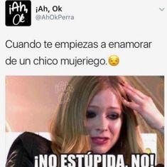 No estupidaaaaaaaa , noooooo :v //lo que siempre pasa en los clichés :b Spanish Jokes, Funny Spanish Memes, Bts Memes, Funny Memes, Hilarious, Memes Humor, Crush Memes, Linnet, Funny Photos