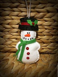 """Купить Елочное украшение """"снеговик"""", """"крылья ангела"""" - белый, зеленый, красный, черный, снеговик"""