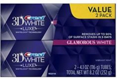 Crest White Luxe Glamorous White Vibrant Mint Flavor Whitening Toothpaste 41 Oz Ea Twin pack -- You can find more details by visiting the image link. Morning Beauty Routine, Beauty Routines, Best Makeup Brushes, Best Makeup Products, Beauty Products, Best Whitening Toothpaste, Makeup Bag Essentials, Crest 3d White, Cat Eye Makeup