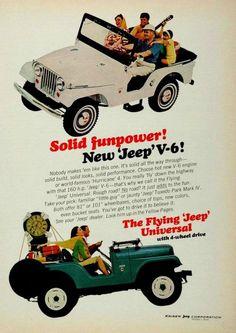 Vintage V6 Jeep Ads