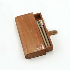LANGUO new design wooden pencil case satationery model:LGMW-2327