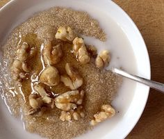 Breakfast Amaranth With Walnuts and Honey Recipe | Epicurious.com