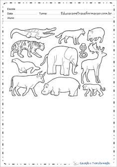 Desenho de animal para colorir e imprimir - Desenhos de animais Colorful Drawings, Tame Animals, Small Animals