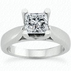 Tapered solitaire princess cut engagement ring available at Wheat Jewelers