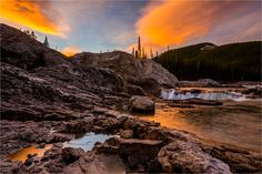 Elbow Falls Dawn - © Christopher Martin-9722 Rocky Mountains, Beautiful Landscapes, Dawn, Water, Photography, Outdoor, Gripe Water, Outdoors, Photograph